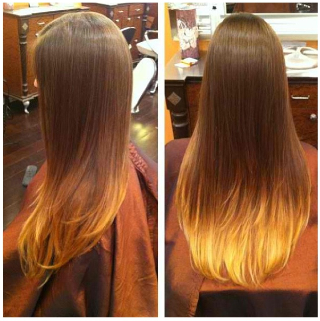 Long Beautiful Hair W Colored Tips Dianastylist