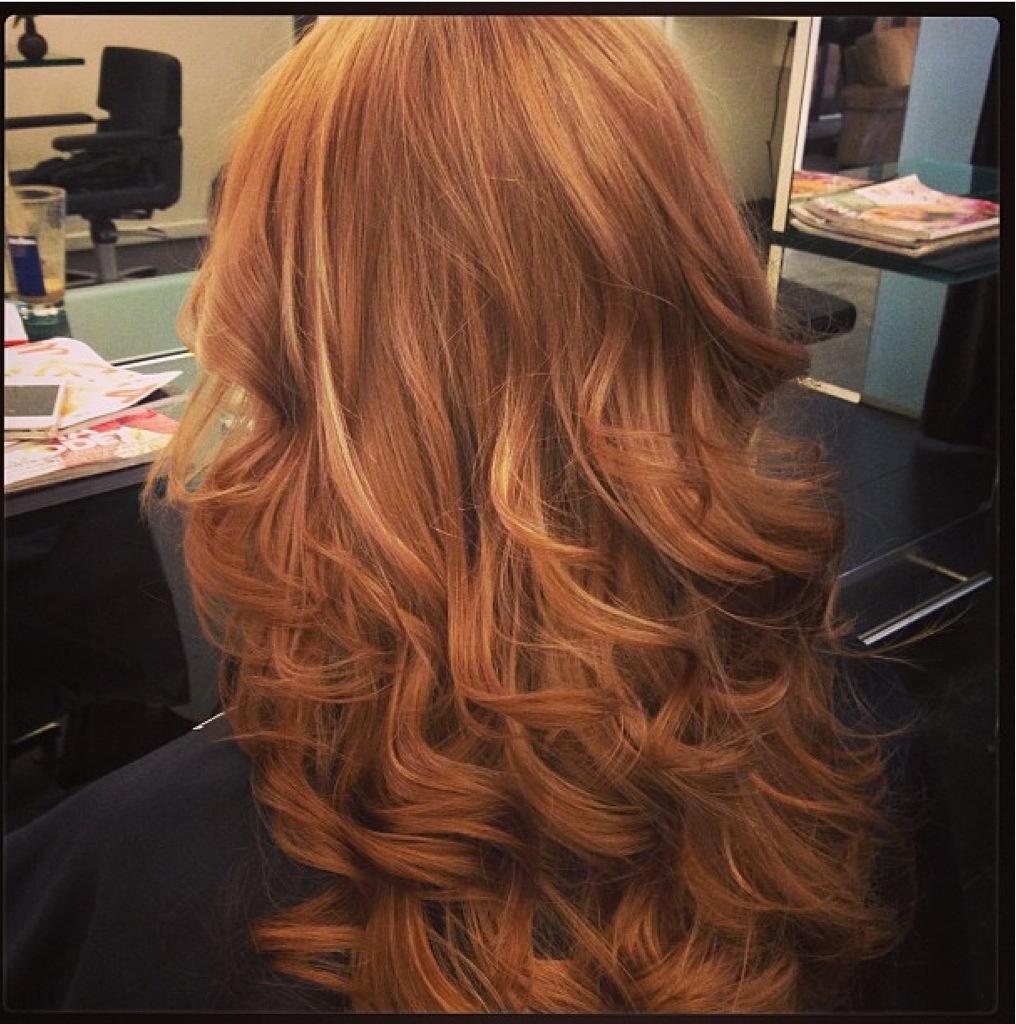 Ginger Color W Highlights Amp Curls Dianastylist Com